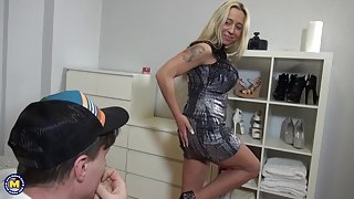 German Busty Milf Seduces Dude