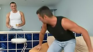 Hot Gay Scene with Ripped Cornholing Dudes