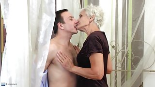Busty mature mothers fuck young sons